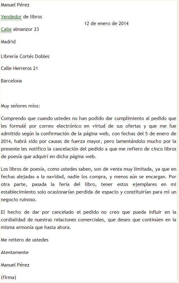 Modelo de carta de cancelaci n for Solicitud de chequera